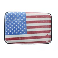 USA Flag Expandable Multi Card Organizer Credit Card Wallet Gift