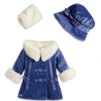 American Girl Doll Rebecca's Winter jacket Coat and Hat Set New