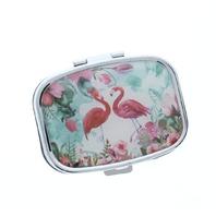 Pink Flamingo Pill Box Medicine Container Case