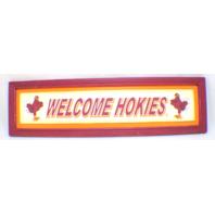 Virginia Tech Hokies Welcome Wooden Distressed College Sign