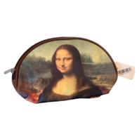 Cosmetic Bag French Inspired Mona Lisa Make-up Bag zipper Clutch