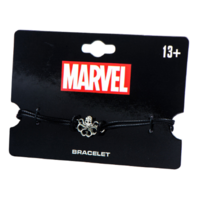 Marvel Hydra Stainless Steel Cut Out Symbol Leather Cord Bracelet Inox