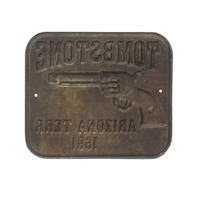 Tombstone Arizona Territory 1881 Gun Butt Tag