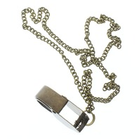 """Solid Brass Jewelers Loupe Loop Pendant and Chain 24"""" Necklace"""