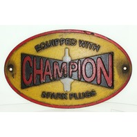 Champion Spark Plugs Sign Decorative Metal Wall Plaque Garage Sign Cast Iron
