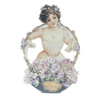 Old Print Factory Victorian Embossed Magnetic Verse Card This Smile's For You