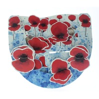 Poppies Flower Garden Botanical 3D Greeting Card Pop-Up and Rock Popnrock with Movement