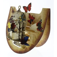 Butterflies and Bird Cage 3D Greeting Card Pop-Up and Rock Popnrock with Movement