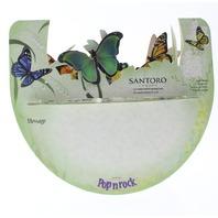 Butterflies Botanical Garden 3D Greeting Card Pop-Up and Rock Popnrock with Movement