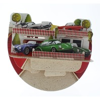 Classic Cars Vintage Automobile 3D Greeting Card Pop-Up and Rock Popnrock with Movement