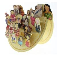 International Babushka Dolls 3D Greeting Card Pop-Up and Rock Popnrock with Movement