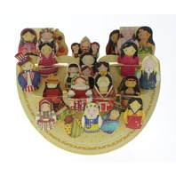 International Babushka Dolls 3D Greeting Card Pop-Up and Rock Popnrock with Movement