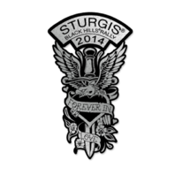 Sturgis 2014 Dagger Rally Dagger Heart Rider Motorcycle Hat Lapel Pin