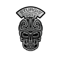 Sturgis 2014 Dagger Rally Design Skull Rider Motorcycle Hat Lapel Pin