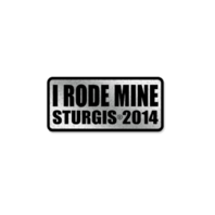 Official Sturgis 2014 Rally I Rode Mine Rider Motorcycle Hat Lapel Pin