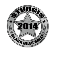 Official Sturgis 2014 Rally Sheriff Badge Star Motorcycle Hat Lapel Pin