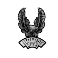 Official Sturgis 2014 Rally UpWing Eagle Motorcycle Hat Lapel Pin