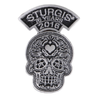 Official Sturgis 2016 Rally Poco Loco Motorcycle Hat Lapel Pin
