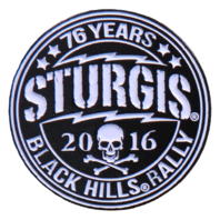 Official Sturgis 2016 Circle Logo Enamel Motorcycle Hat Lapel Pin