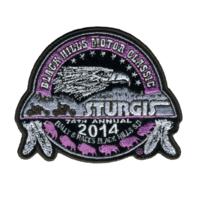 2014 Sturgis Rally Logo Pink Ladies Rider Motorcycle Uniform Patch