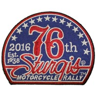 Sturgis 76th 2016 Motorcycle Rally Red White Blue Motorcycle Uniform Patch