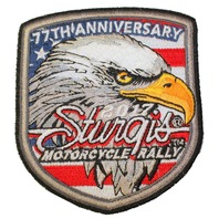 Sturgis 77th Anniversary Eagle Flag Motorcycle Uniform Patch