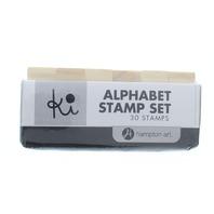 Hampton Art Alphabet Block Letters 30 Pc Set Wooden Rubber Stamp