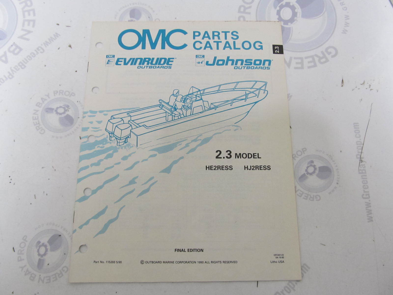 115293 1990 OMC Evinrude Johnson Outboard Parts Catalog 2 3 HP