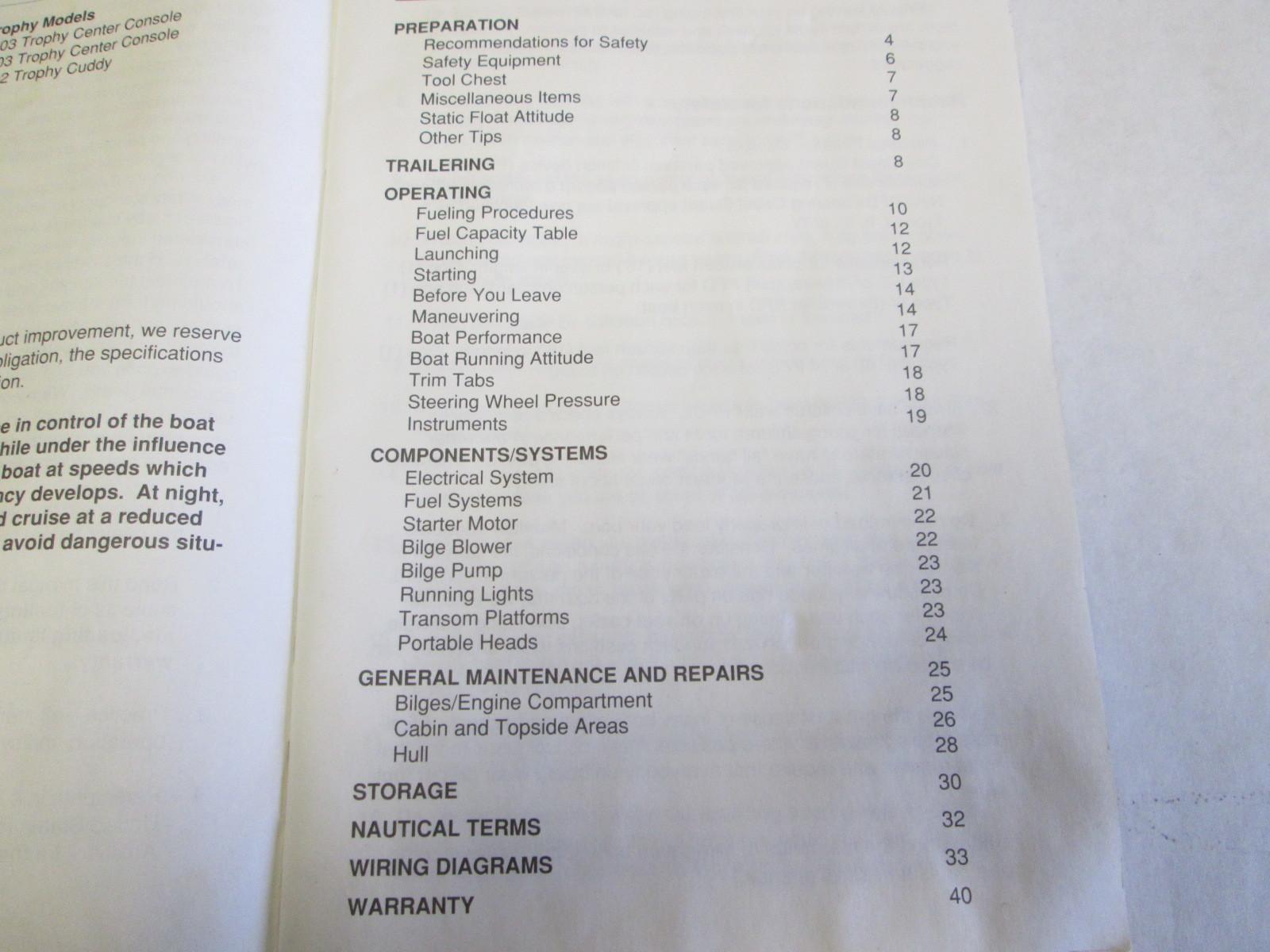 Bayliner capri Owner manual