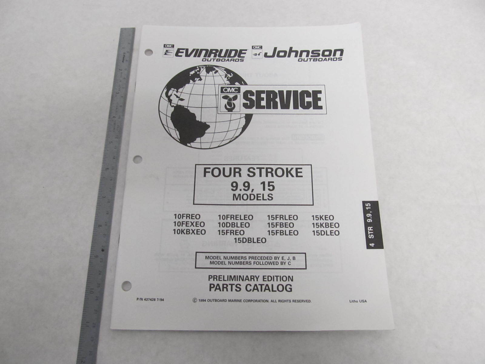Johnson 15 Hp outboard parts repair manual Free download