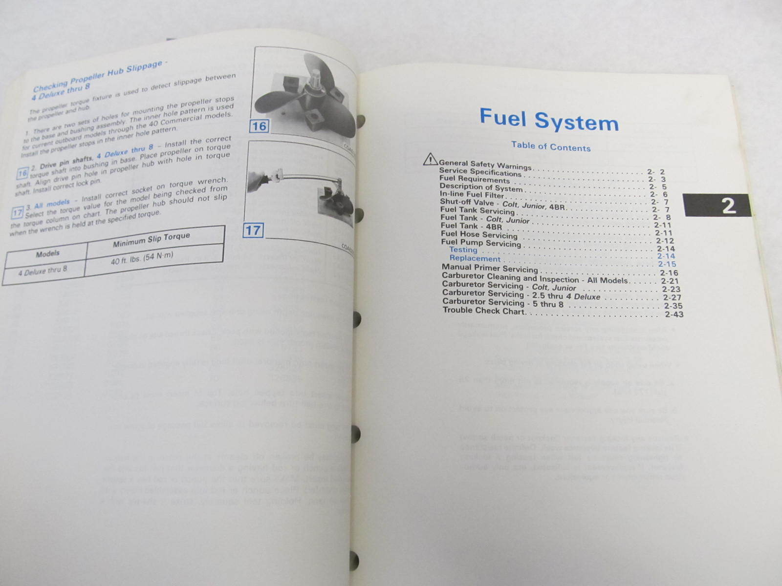 Johnson 8 hp Outboard Manual