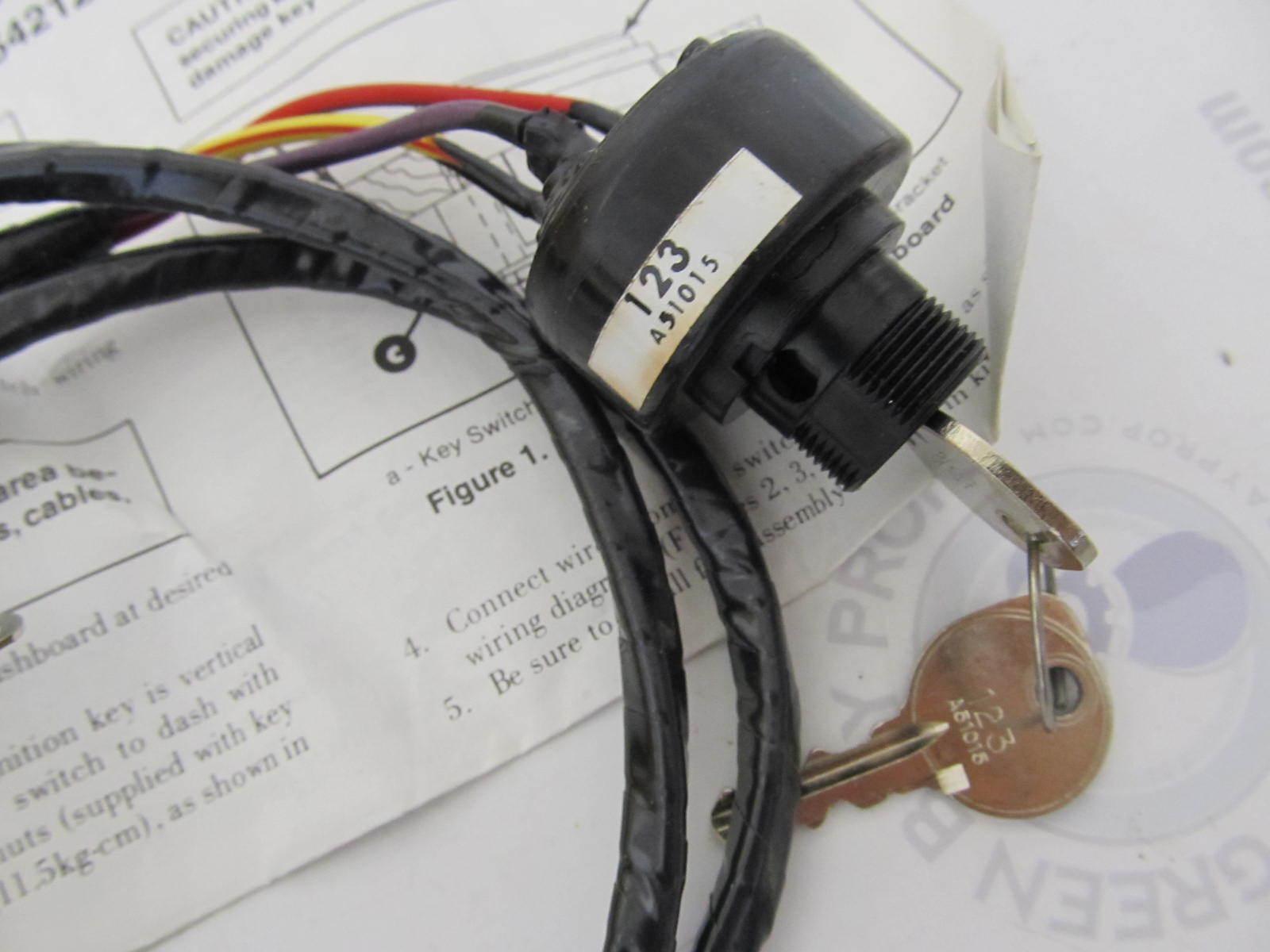 Mercury Quicksilver 899887t04 Key Switch Kit