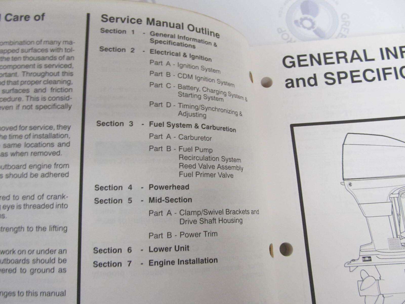 Force 50 Hp owners manual