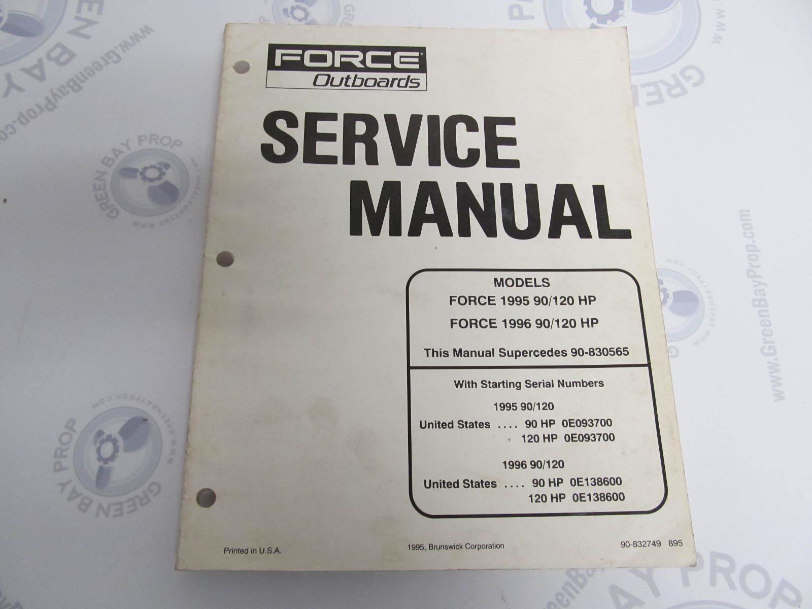40 hp force Repair Manual