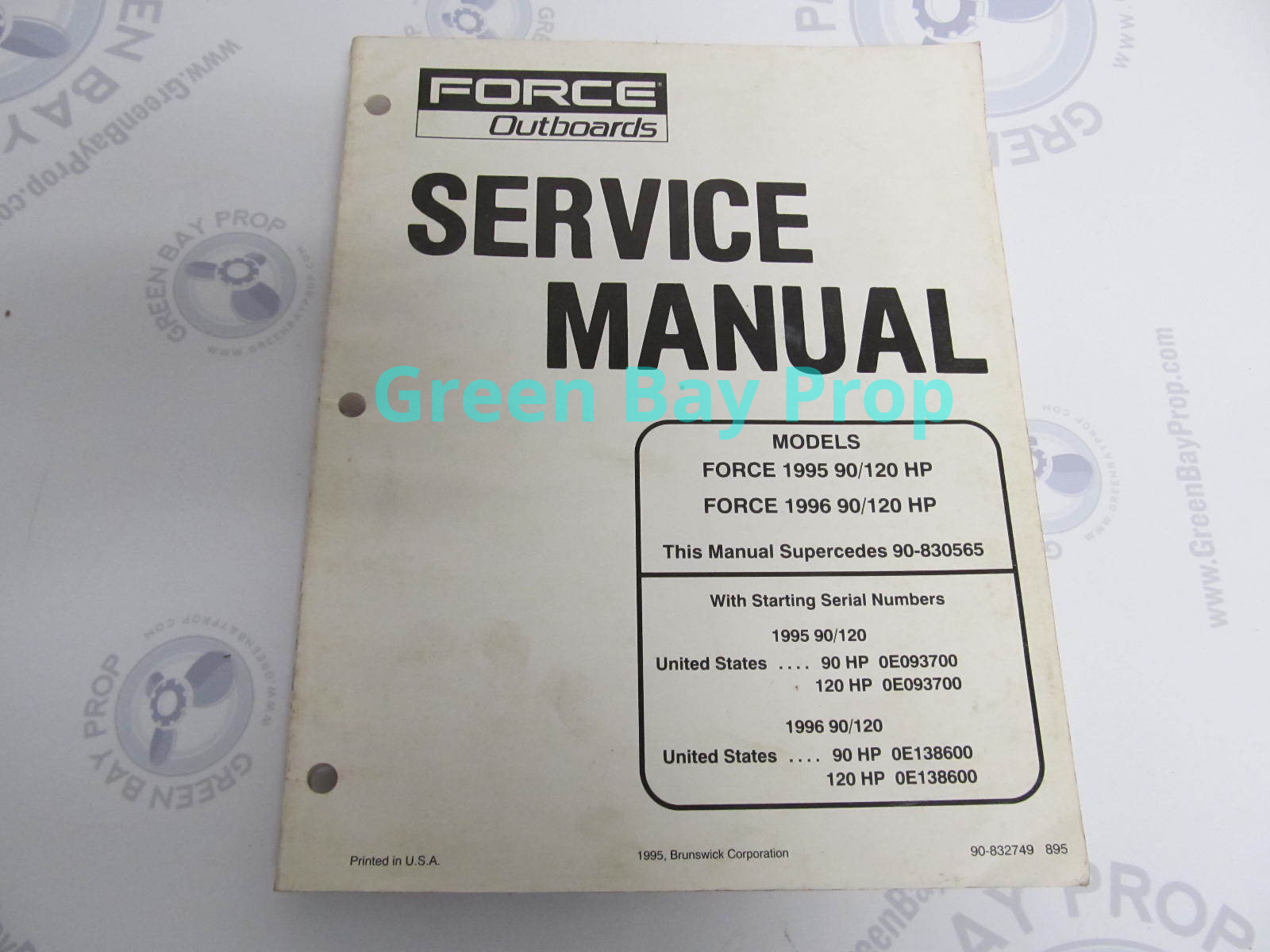90-832749 Mercury Force Outboard Service Manual 90/120 HP ...