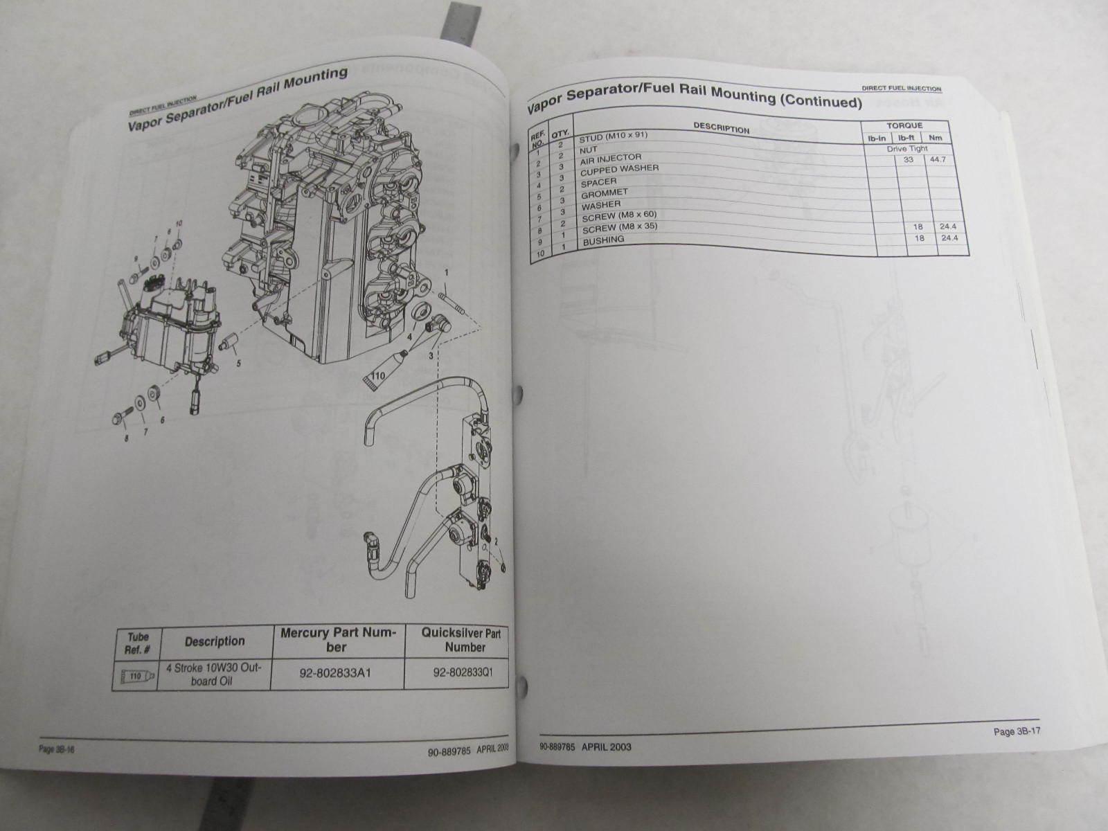 mercury marine 200 optimax jet drive engine full service repair manual 2001 onwards