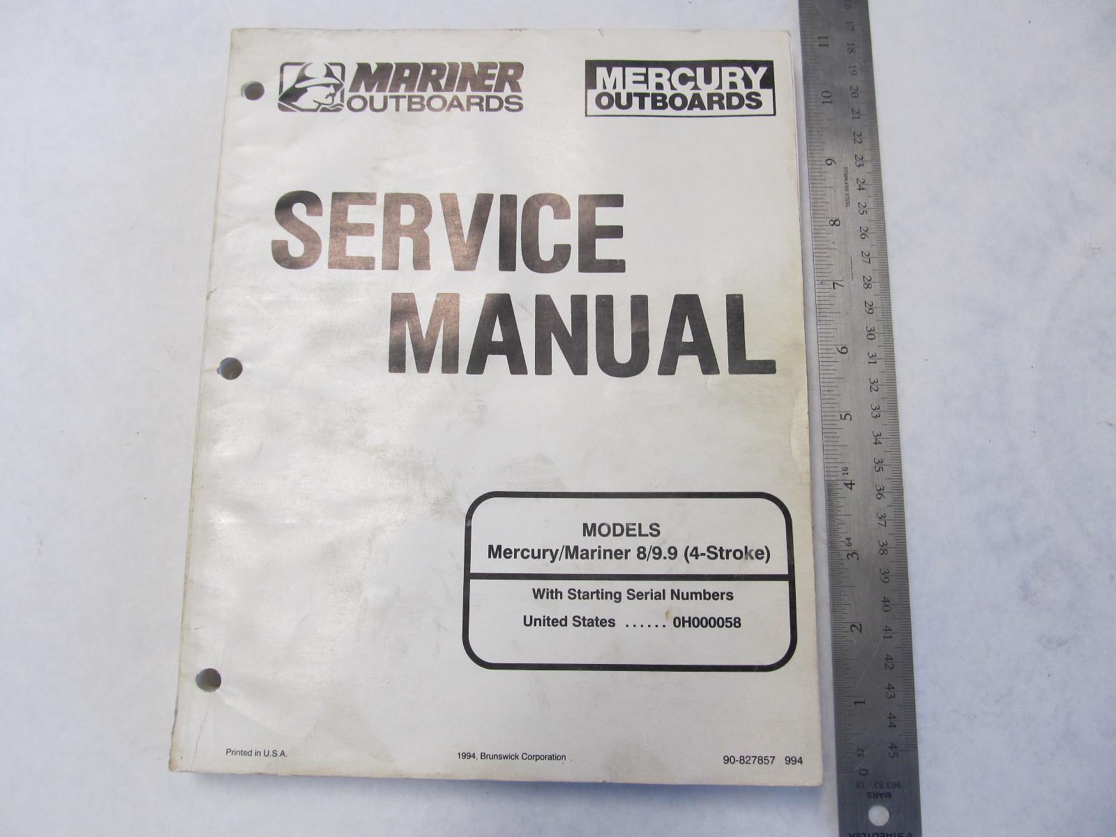 Mercury Outboard Motor 1995-2001 40-50 HP 4-stroke service manual in binder