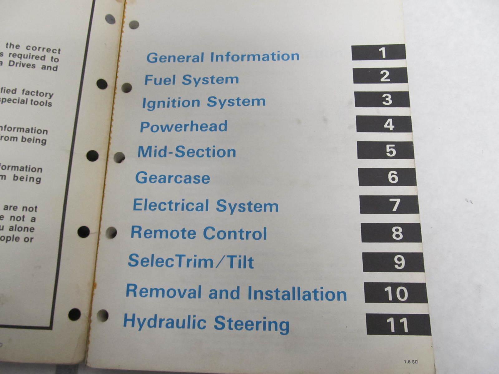Omc Repair manual