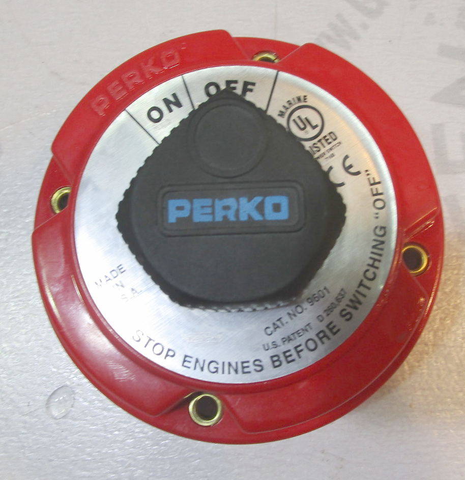 PERKO Marine Boat RV 2 Position On Off Main Battery Switch GB568920556