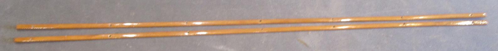 "1986 Rinker V180 Boat Interior Side Wall Trim Insert Set(2) Teak Wood 84"" x 7/8"""