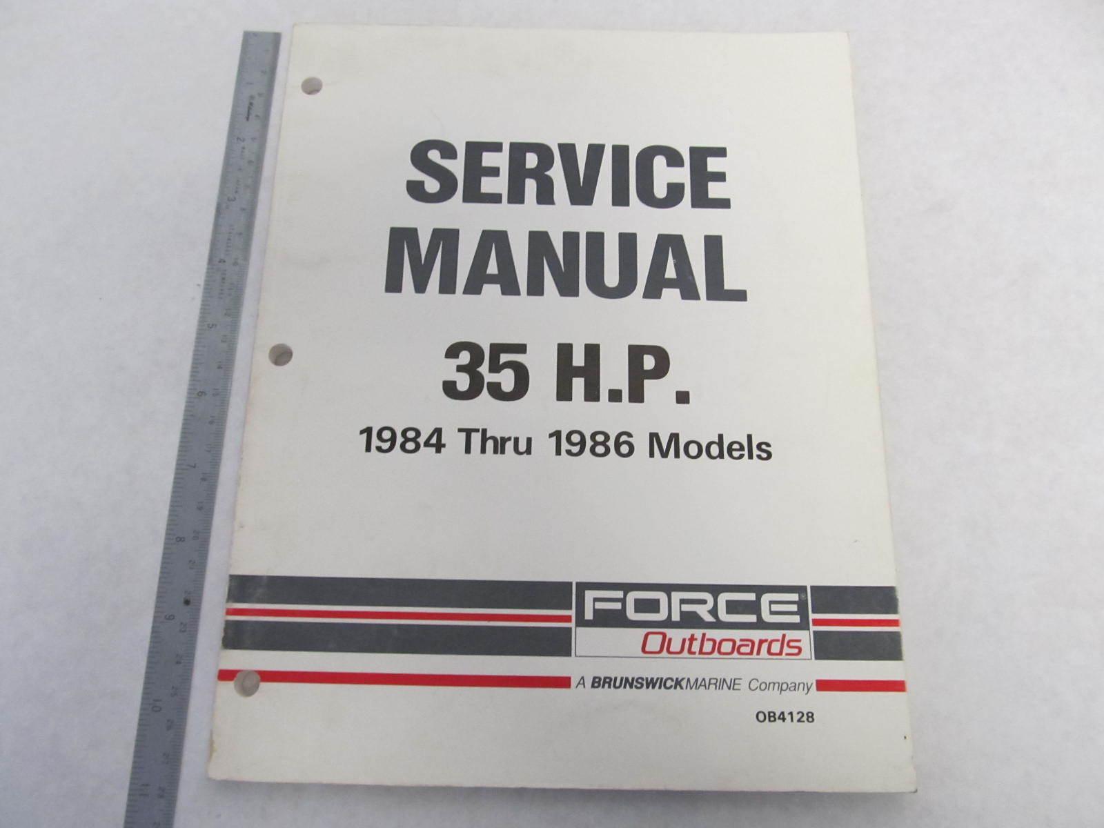 1987 mercury 35hp Outboard Manual