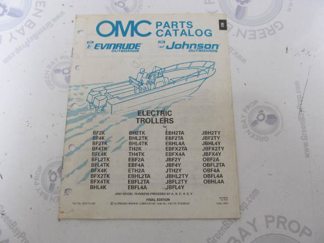 433772 1990 OMC Evinrude Johnson Electric Outboard Parts Catalog