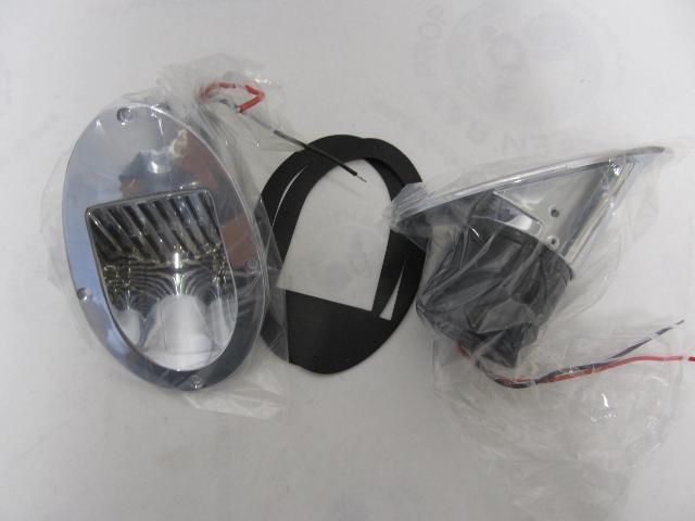 541-0200-1 Innovative Lighting Chrome Hull Mount Ranger Boat Horn Set