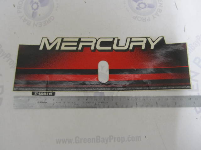 37-83025801 830258-01 Mercury Outboard Black Red & White Logo Sticker Decal