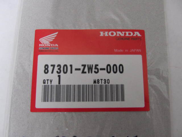87301-ZW5-000 130 Honda Label Decal for Honda Outboard Cowl