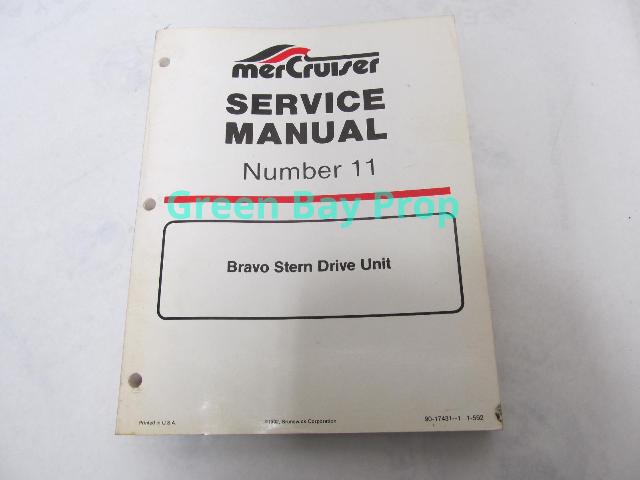90-17431-1 Mercury Mercruiser #11 Bravo 1-3 Stern Drive Service Manual