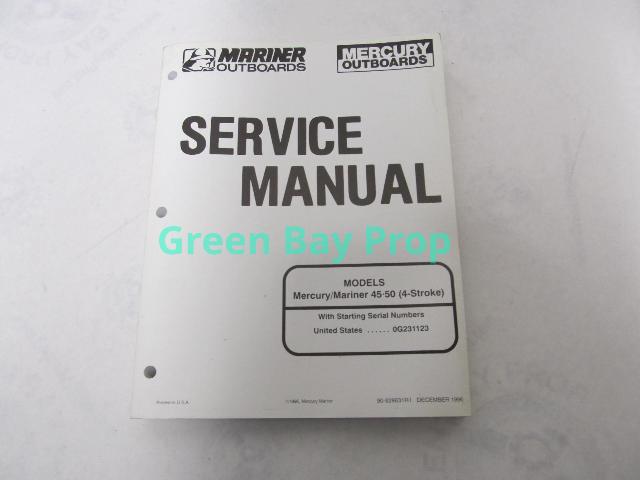90-828631R1 Mercury Mariner Outboard Service Manual 45-50 4-Stroke