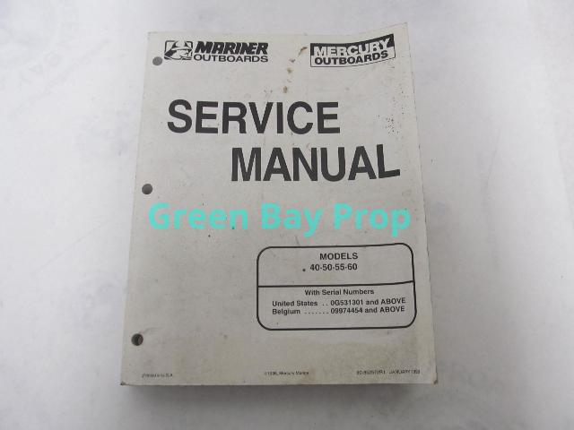 90-852572R1 98 Mercury Mariner Outboard Service Manual 40-60 HP