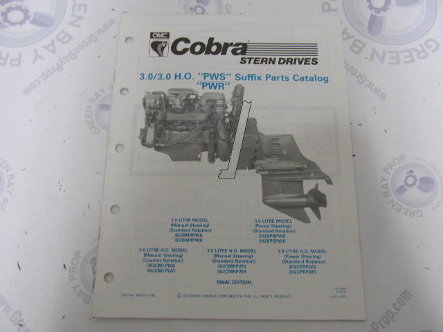 986553 1990    OMC       Cobra    Stern Drive Parts Catalog 3030HO