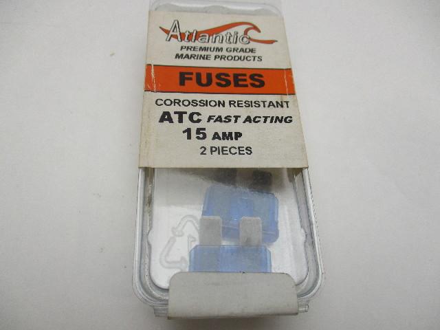 Atlantic Marine ATC Corossion Resistant BLADE FUSES-15 Amp 2 pack